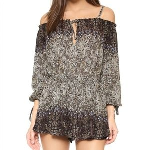 """Free People """"So Divine"""" Small Off Shoulder Romper"""